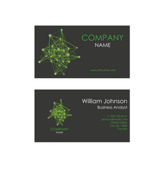 business card with lines and dots vector image vector image