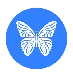 Butterfly icon in black style isolated on white vector