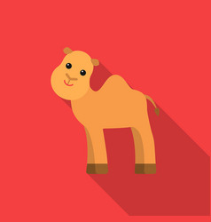 camel flat icon for web and mobile vector image vector image