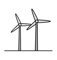eolic turbines icon vector image