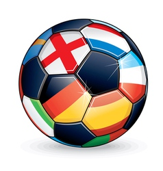 Euro 2012 Football vector image