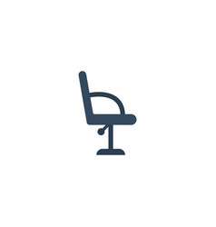 Flat icon barbershop furniture element vector