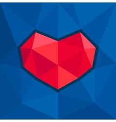 geometric heart vector image vector image