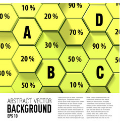 Geometric infographic template vector