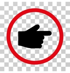 Index finger rounded icon vector