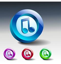 Multimedia musical note icon button vector