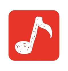 note music silhouette icon vector image