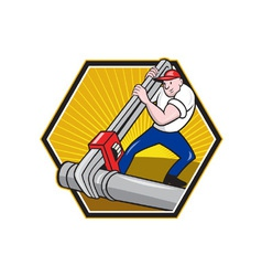 Plumber worker vector