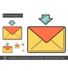 Receive message line icon vector image vector image