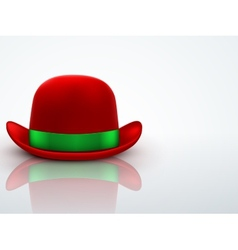 Red bowler hat on a light background vector