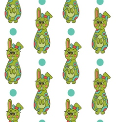 Seamless pattern with Easter bunny-6 vector image vector image