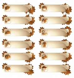 set of 12 autumnal labels vector image vector image