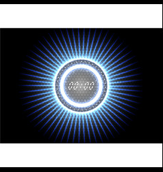 technological abstract modern splash blue light vector image