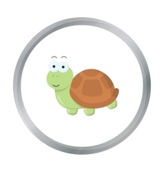 Turtle cartoon icon for web and vector
