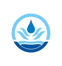 Water drop icon circle logo vector