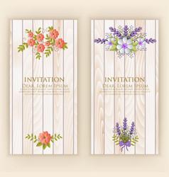 Wedding invitation card invitation vector