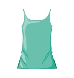 Woman t-shirt sleeveless with color green vector