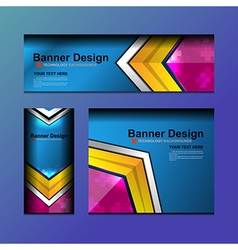 Business banner geometric design vector