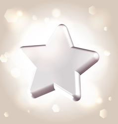 Silver metallic star prize vector