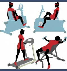 exercise machines vector image