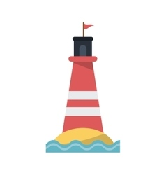 Isolated lighthouse design vector