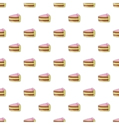 Piece of cake pattern cartoon style vector