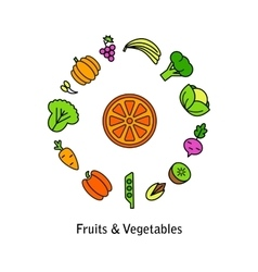 Healty food background representing vector