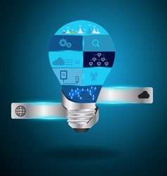 Light bulb idea with modern technology vector