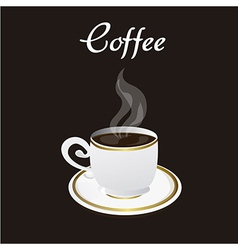 Coffee cup over black background vector
