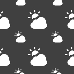 Weather icon sign seamless pattern on a gray vector