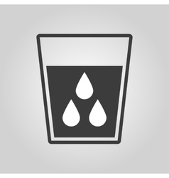 The liquid in glass icon water and drink aqua vector