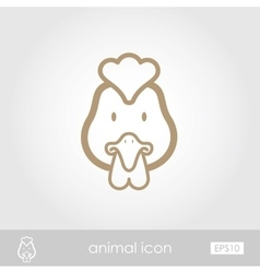 Chicken icon vector