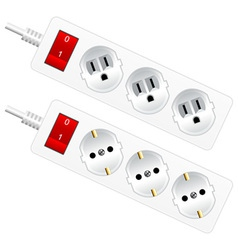 Outlet sockets vector