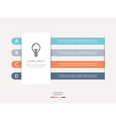 Modern infographic for business project vector