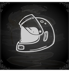 Hand drawn bikers helmet vector