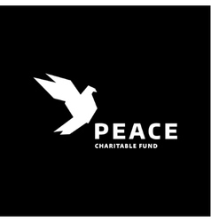 Dove of peace logo in the style quality vector