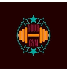 Gym symbol background vector