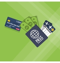 Payment with credit card design vector