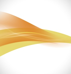Abstract light lines orange curve background vector