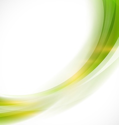 Abstract curve smooth green flow background vector image vector image
