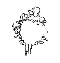 blurred silhouette ink splash icon vector image vector image