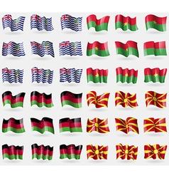 British indian ocean territory burkia faso malawi vector
