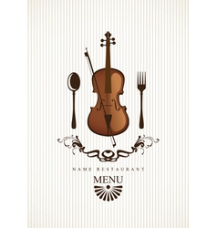 Cafe menus for music vector