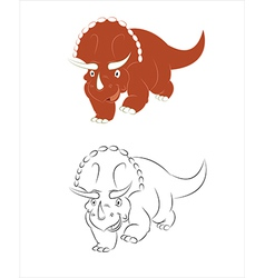 Ceratops vector image vector image