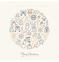 Christmas and new year outline icon decoration vector