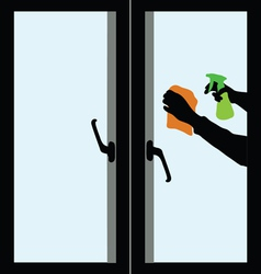 Cleaning windows-2 vector image