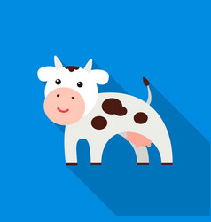 cow flat icon for web and mobile vector image