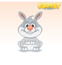 Cute Cartoon Little Rabbit Funny Animal vector image vector image