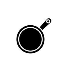 frying pan icon black sign vector image