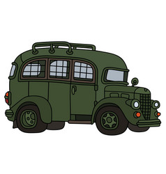 funny old prison bus vector image vector image